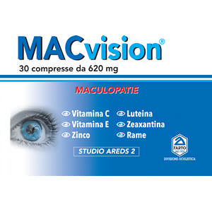 MACVISION – Complemento per Maculopatie – 30 compresse 620 mg
