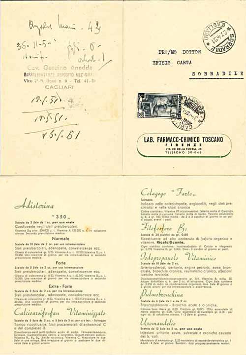Listino 1951 - nuovo taglio