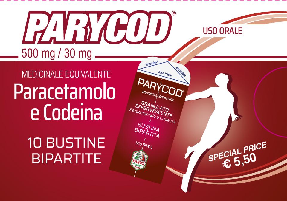 PARYCOD – Acetaminophen + Codeine – 10 bipartite sachets