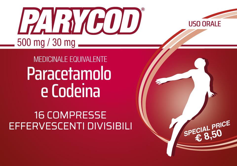 PARYCOD – Paracetamol + Codeine – 16 effervescent tablets